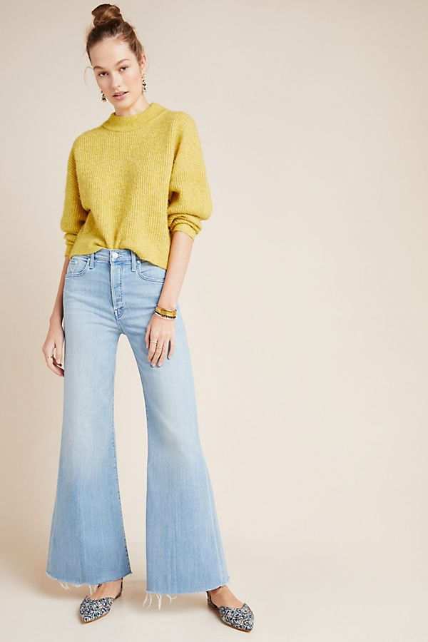 Slide View: 1: MOTHER The Tomcat Ultra High-Rise Wide-Leg Jeans