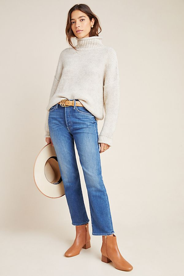 Slide View: 1: MOTHER The Tomcat Ultra High-Rise Straight Jeans
