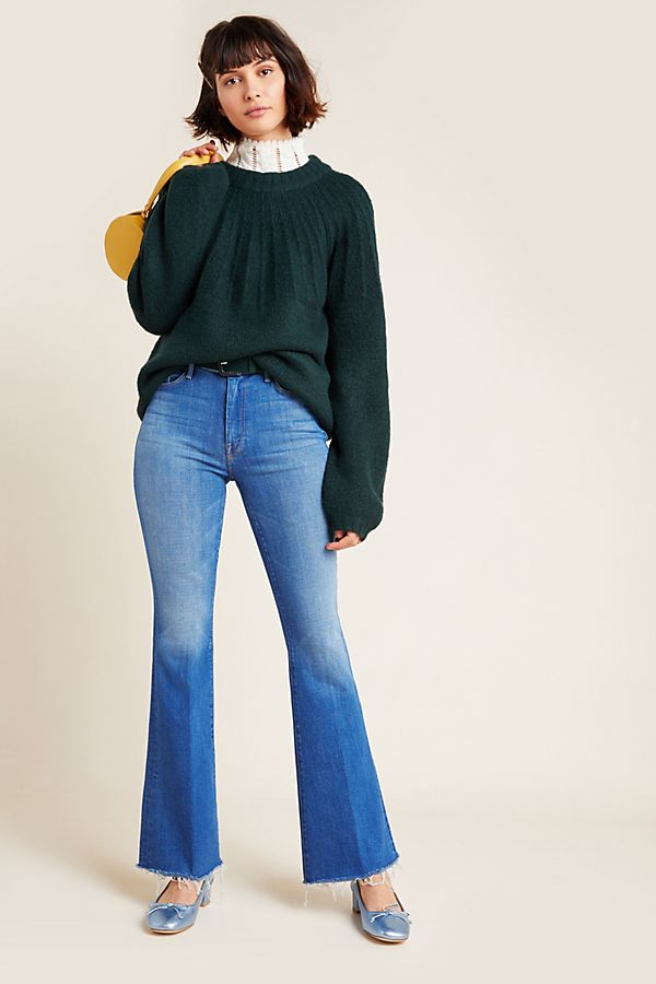 Slide View: 1: MOTHER The Weekender High-Rise Flare Jeans