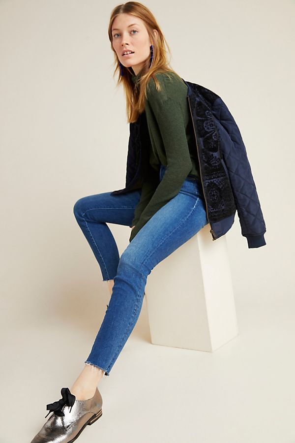 Slide View: 1: MOTHER The Looker Mid-Rise Skinny Jeans