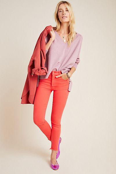 MOTHER The Stunner High-Rise Skinny Ankle Jeans
