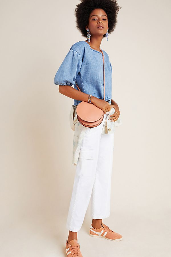 Slide View: 1: MOTHER The Rambler Ultra High-Rise Cargo Wide-Leg Jeans
