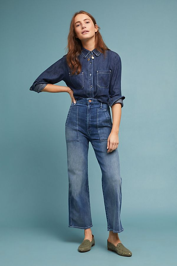 390204bd7db MOTHER The Greaser Ultra High-Rise Wide-Leg Jeans