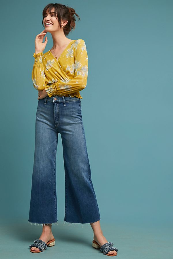 aeef34c0fcd0b MOTHER The Swooner Roller Ultra High-Rise Cropped Jeans