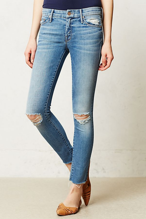 506c22a5f28c Mother Looker Ankle Fray Jeans   Anthropologie