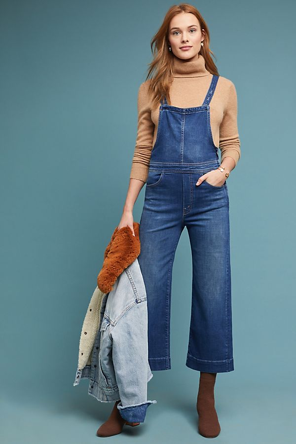 d117ebfe0301 MOTHER The Greaser Cropped Overalls
