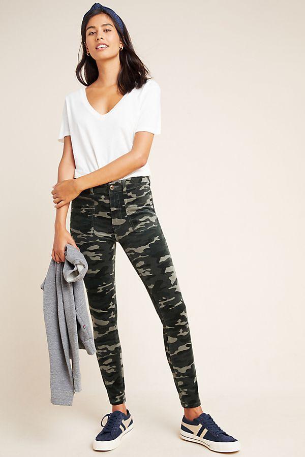 Slide View: 1: Pilcro High-Rise Skinny Corduroy Jeans