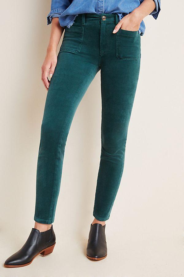 Slide View: 2: Pilcro High-Rise Skinny Corduroy Jeans
