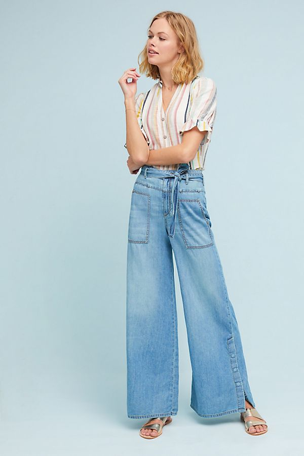 aabd1cd2ce5c Pilcro High-Rise Wide-Leg Jeans