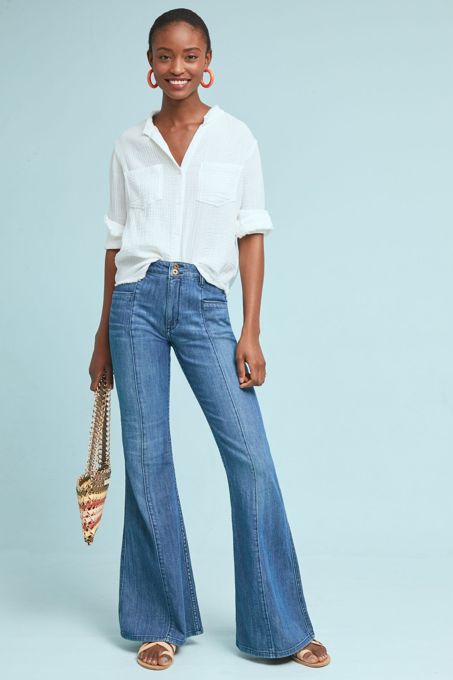 Pilcro Ultra High Rise Flare Jeans