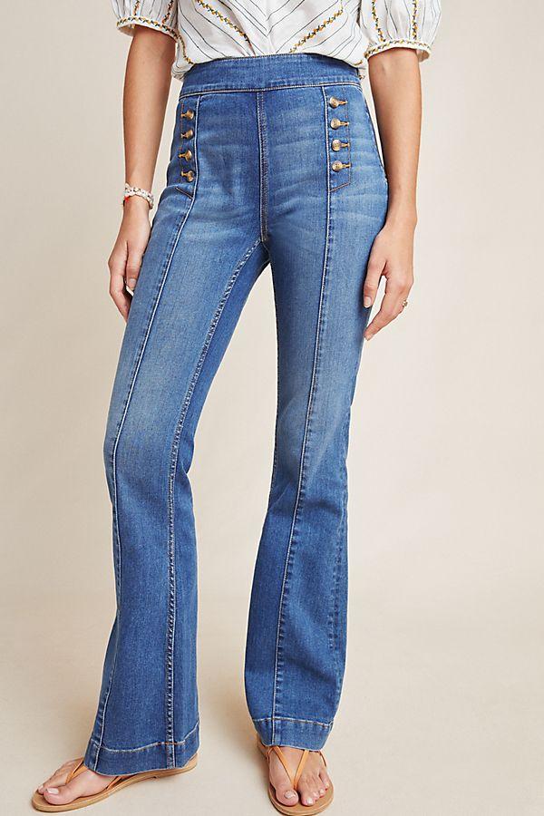 7ac08494eac2 Pilcro Bootcut-Jeans mit hohem Bund