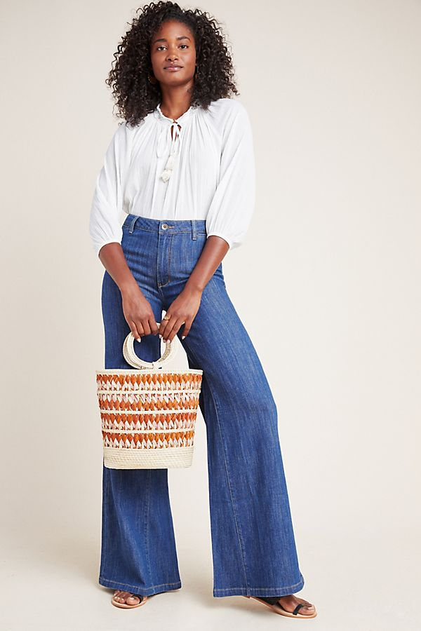 Slide View: 1: Pilcro Ultra High-Rise Wide-Leg Jeans