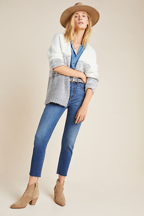 Slide View: 1: Pilcro Ultra High-Rise Straight Ankle Jeans