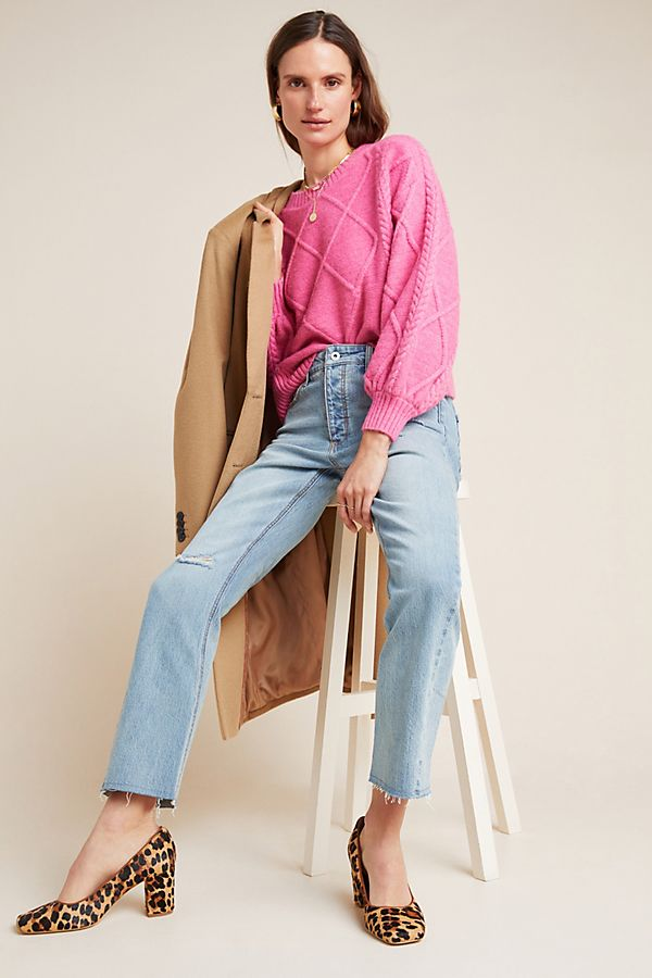 Slide View: 1: Pilcro High-Rise Relaxed Straight Jeans