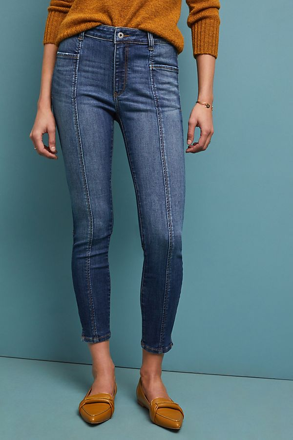 Slide View: 4: Pilcro High-Rise Denim Leggings