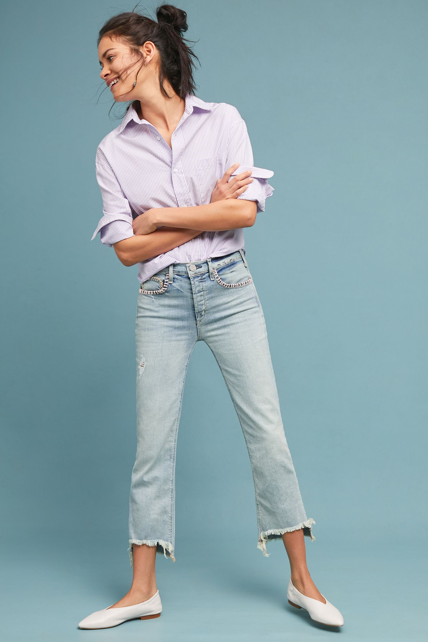 d4e4a656def McGuire Valetta Mid-Rise Cropped Jeans