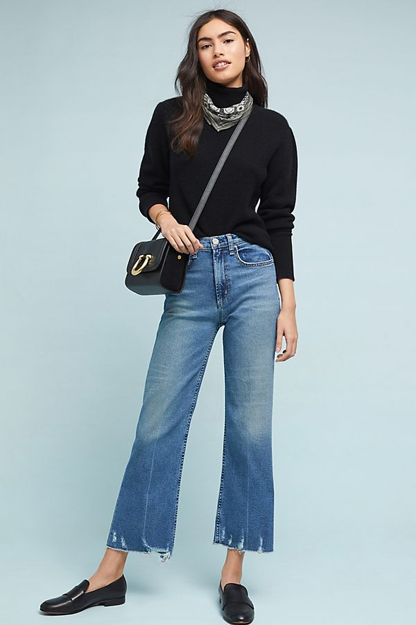 16be0ae2380 McGuire Bruni High-Rise Cropped Wide-Leg Jeans | Anthropologie