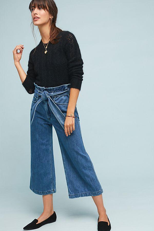 52f6f8b8518a McGuire Fonda High-Rise Cropped Wide-Leg Jeans