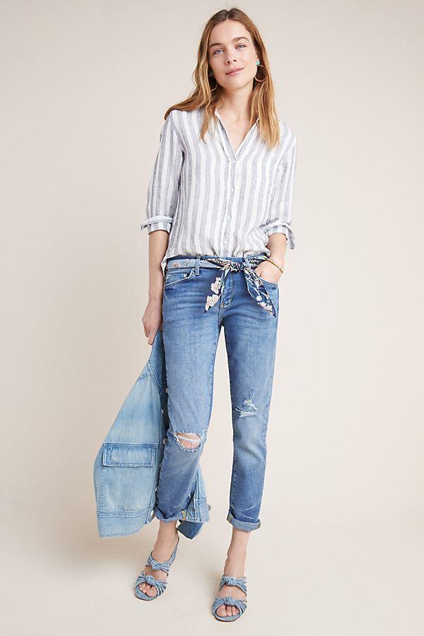 e41a0d1bb7 Slide View: 1: Pilcro Schmal geschnittene Boyfriend-Jeans mit mittelhohem  Bund