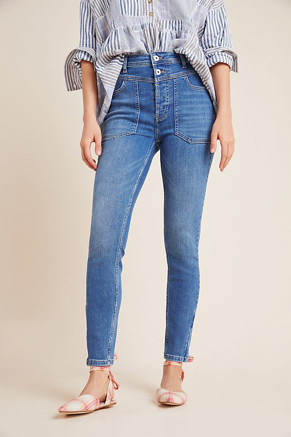 Pilcro Ultra High Rise Seamed Skinny Jeans