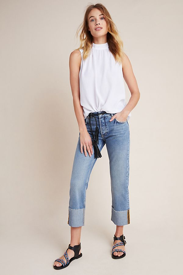 Slide View: 1: Pilcro High-Rise Straight Jeans