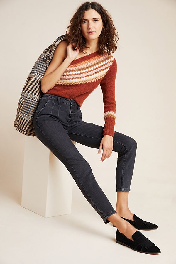 Slide View: 1: Pilcro Button-Fly Ultra High-Rise Skinny Jeans