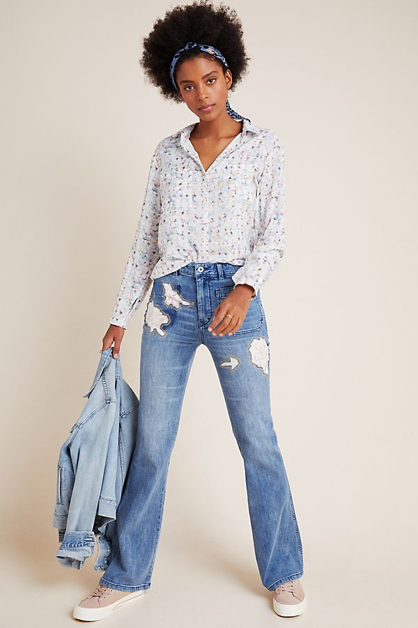 Slide View: 1: Pilcro Rose High-Rise Bootcut Jeans