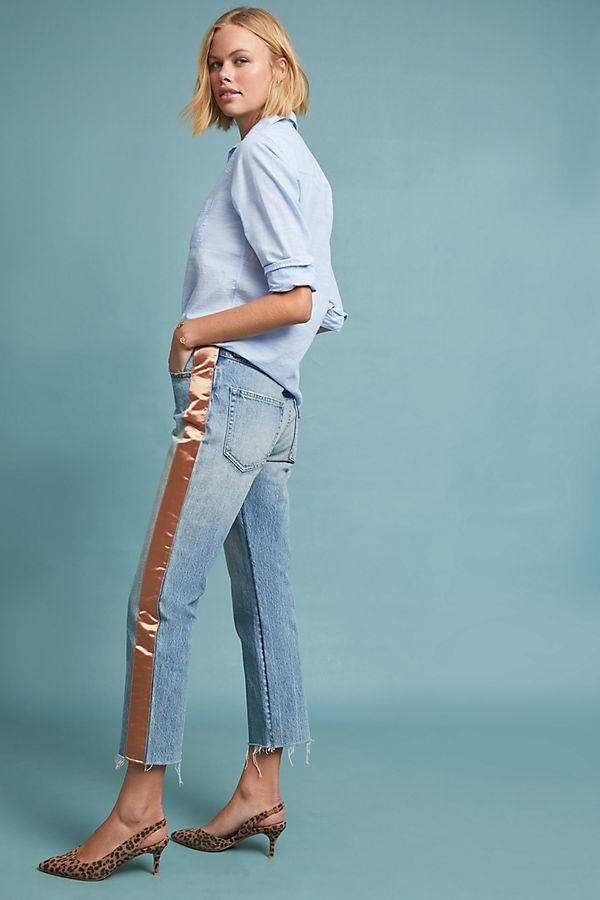 Slide View: 1: AMO Loverboy High-Rise Straight Jeans