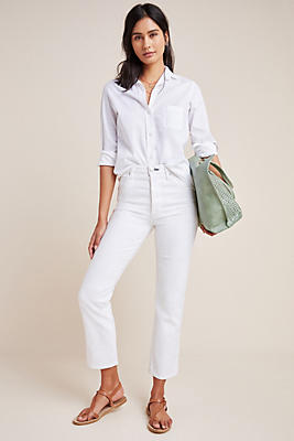 Slide View: 1: AMO Chloe High-Rise Straight Cropped Jeans