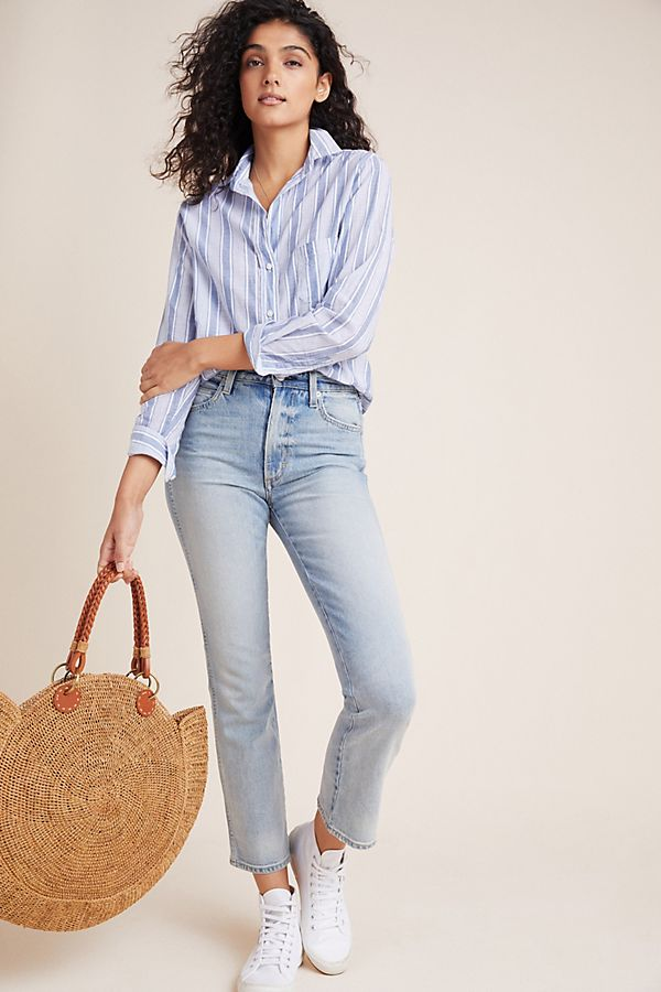 Slide View: 1: AMO Bella High-Rise Bootcut Jeans
