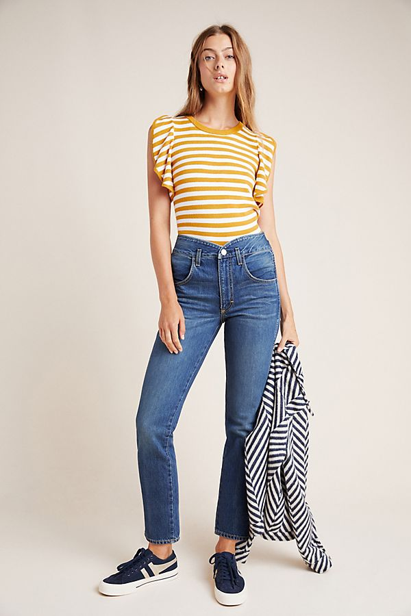 Slide View: 1: AMO Tulip Ultra High-Rise Straight Jeans