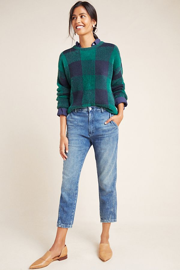 Slide View: 1: AMO High-Rise Slouched Trouser Jeans