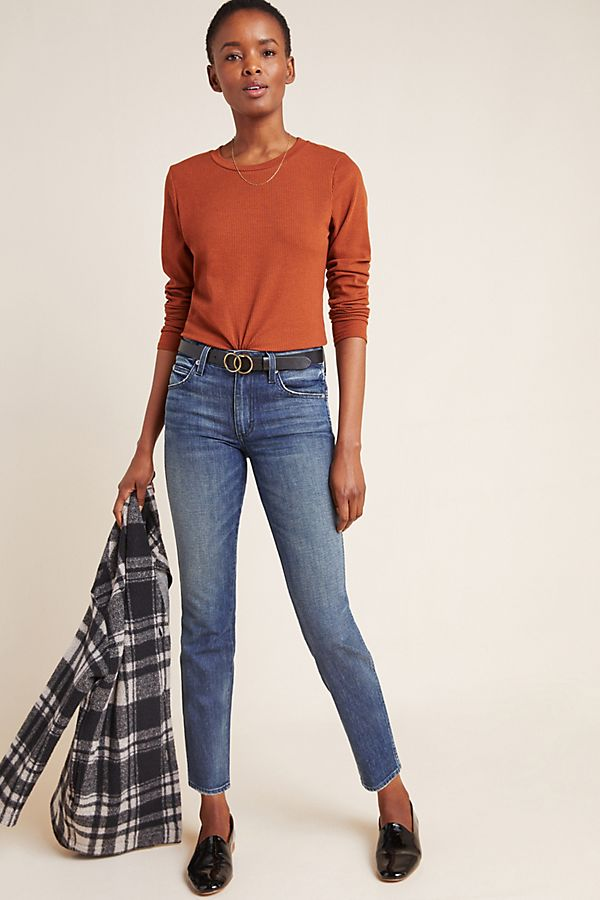 Slide View: 1: AMO Stix Mid-Rise Skinny Ankle Jeans