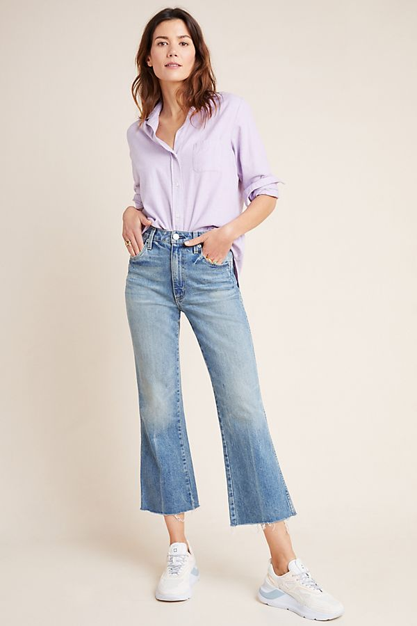 Slide View: 1: AMO Topanga Ultra High-Rise Cropped Flare Jeans