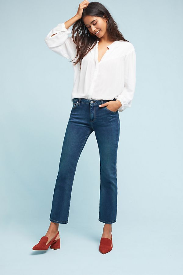2feaddd76553a8 Reiko Low-Rise Crop Flare Jeans | Anthropologie