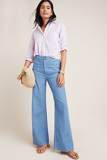 856db7fa885 Pilcro High-Rise Wide-Leg Trouser Jeans