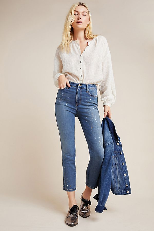 Slide View: 1: Sanctuary High-Rise Cropped Skinny Jeans