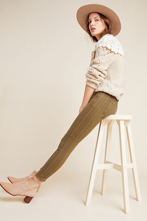 Slide View: 1: Sanctuary Moto Ultra High-Rise Skinny Ankle Jeans