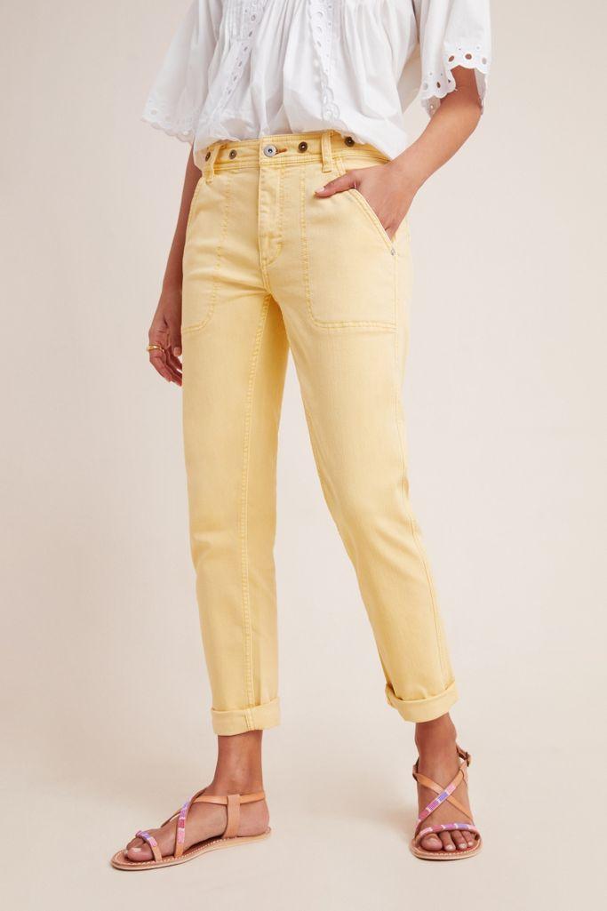 Anthropologie Pilcro High-Rise Slim Boyfriend Jeans