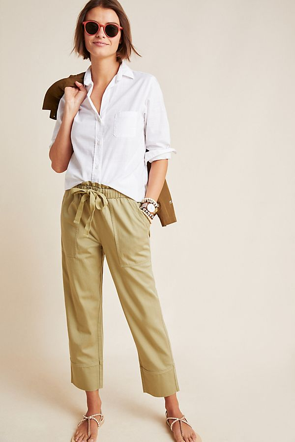 Slide View: 1: Frye x Anthropologie Domi Paperbag-Waisted Pants