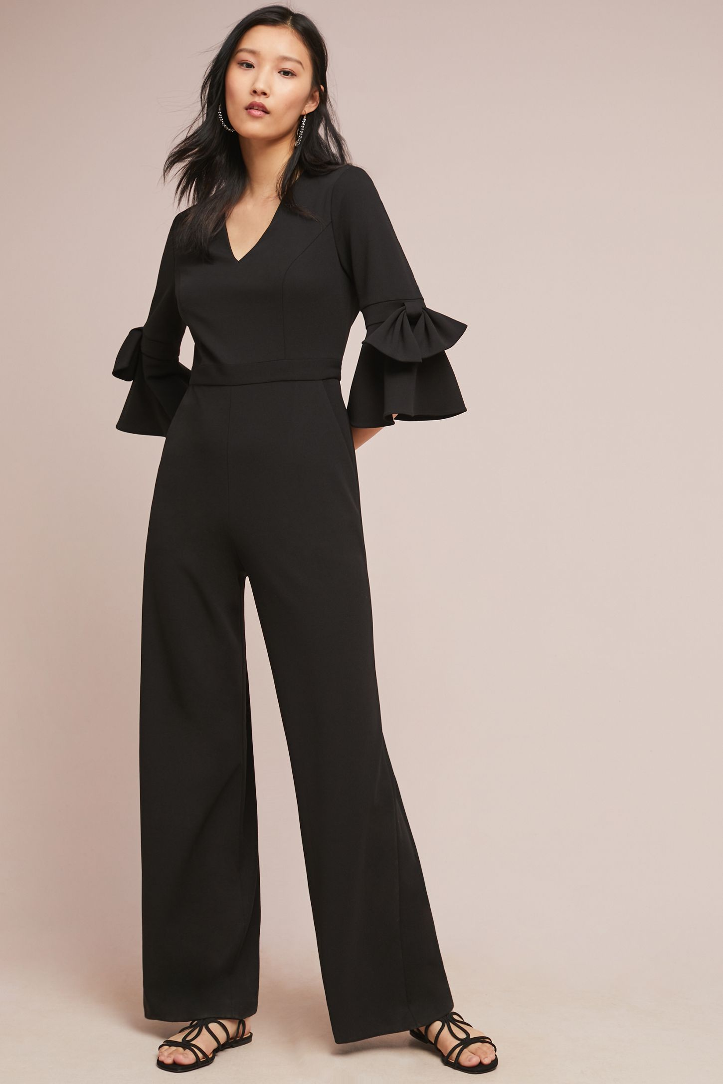 a4ad75dba6585 Donna Morgan Bell-Sleeved Jumpsuit. Tap image to zoom. Hover your mouse  over an image to zoom. Double Tap to Zoom