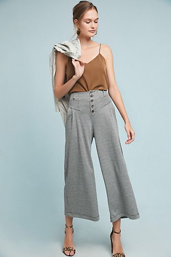 a5c5dc8cad92 Houndstooth Wide-Leg Pants