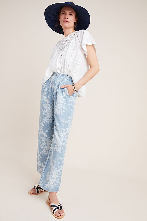 Slide View: 1: Paige Reeve Tropical Toile Pants