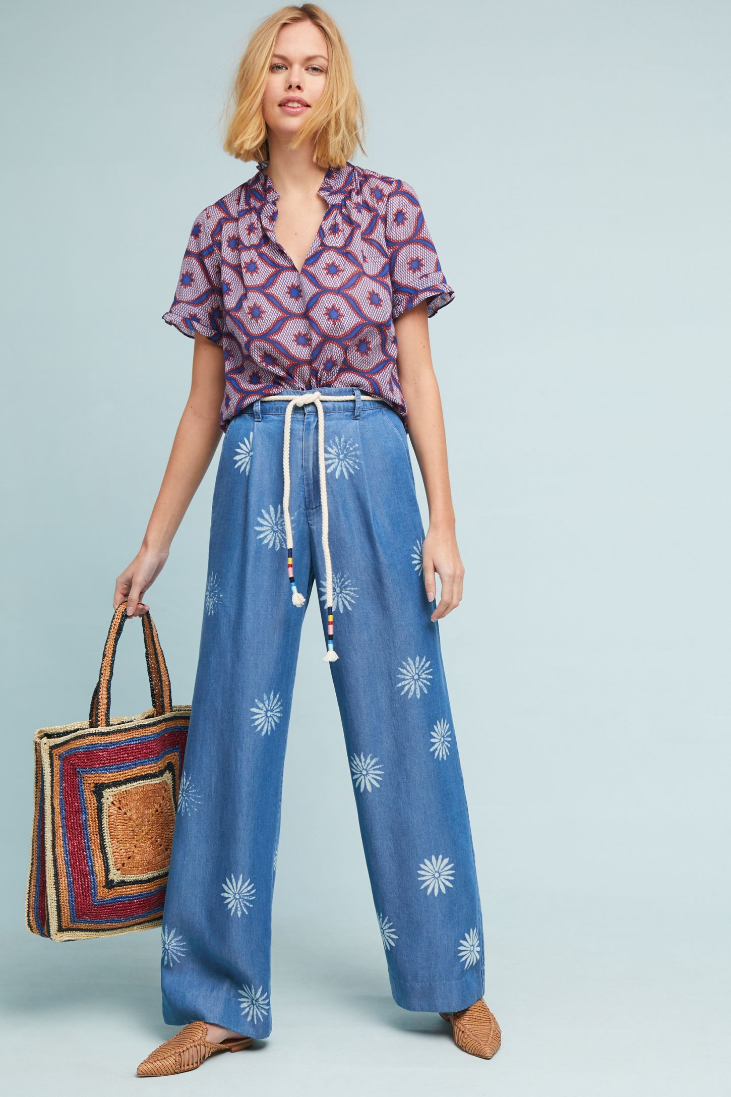 2a10219f Splendid x Margherita Palazzo Pants | Anthropologie