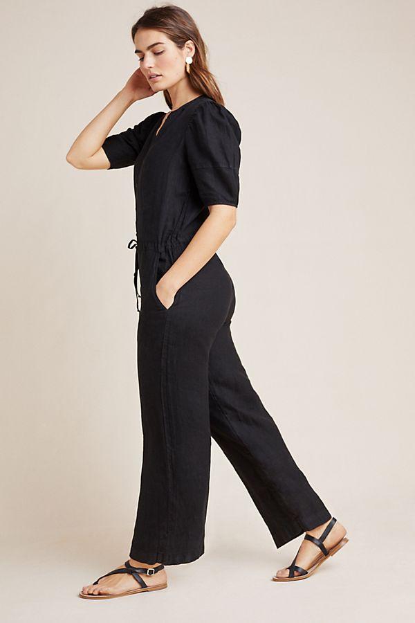 Slide View: 1: Izabella Linen Jumpsuit