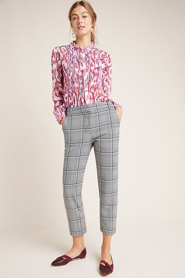 Slide View: 1: Abigail Plaid Trousers