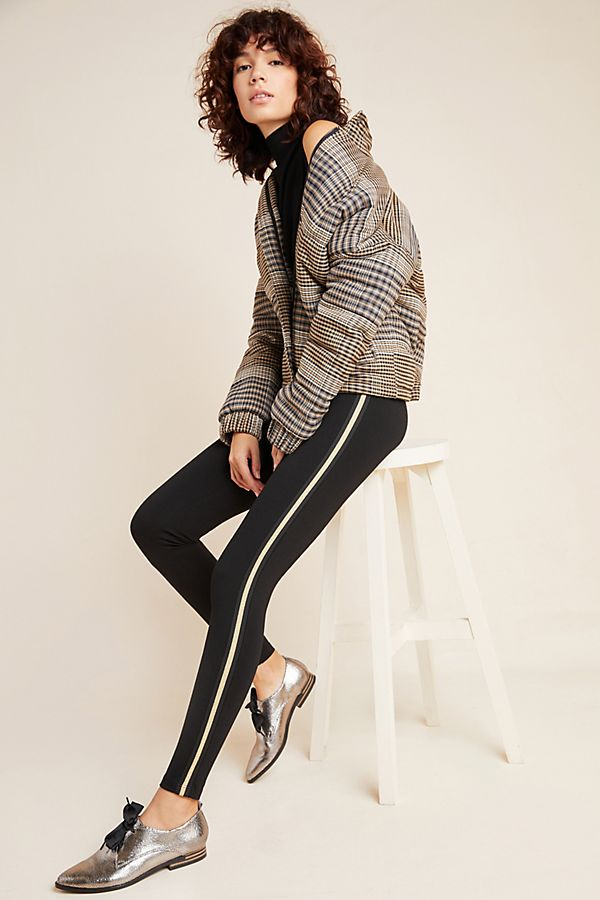 Slide View: 1: Raquel Side Stripe Leggings