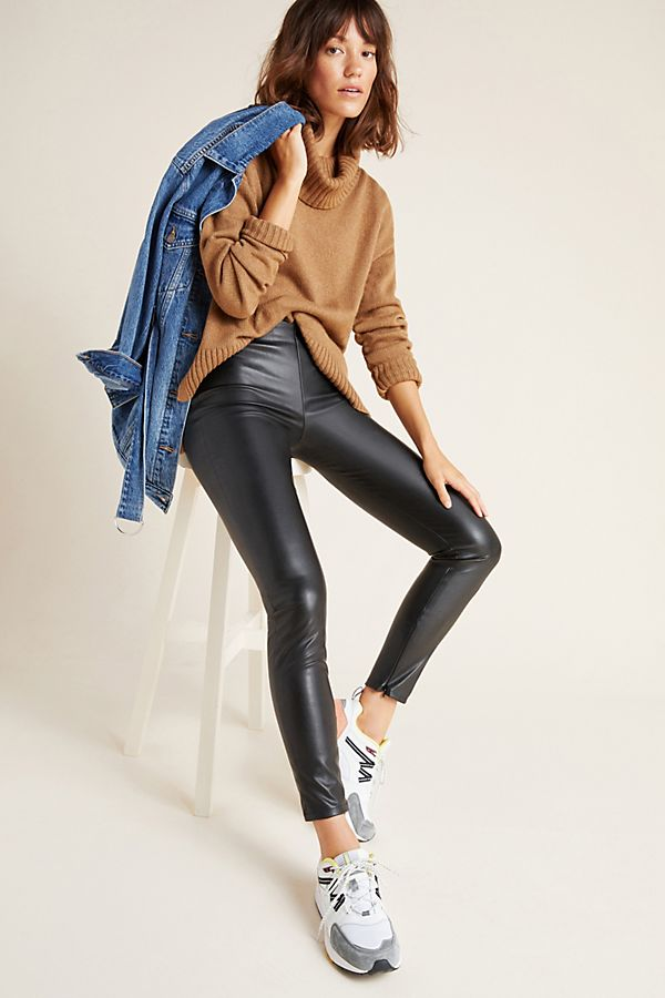 Slide View: 1: Berdine Faux Leather Leggings