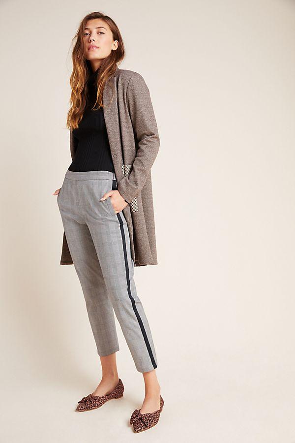 Slide View: 1: Adela Cropped Side Stripe Trousers