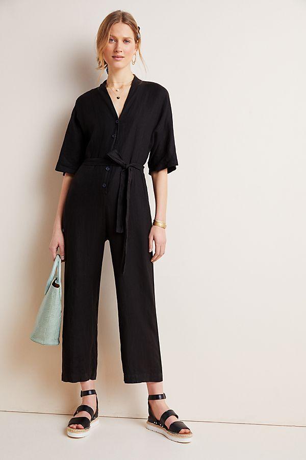 Slide View: 1: Tamra Linen Jumpsuit